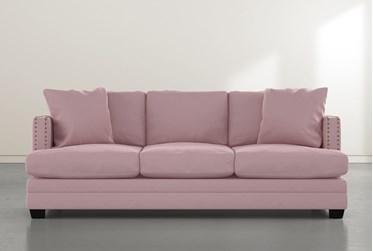 "Kiara II 90"" Pink Velvet Sofa"