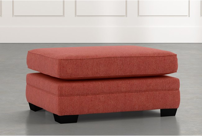 Madalyn Red Ottoman - 360