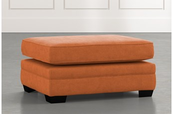 Madalyn Orange Ottoman