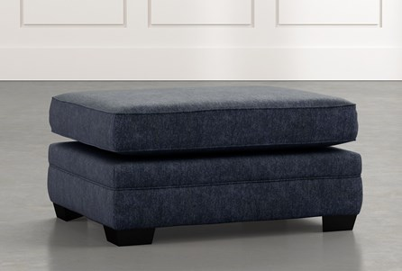 Madalyn Navy Blue Ottoman