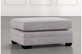 Madalyn Light Grey Ottoman