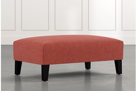 Madalyn Red Accent Ottoman
