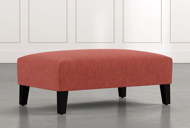 Madalyn Red Accent Ottoman - 360