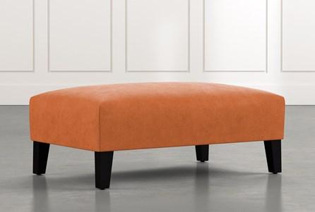 Madalyn Orange Accent Ottoman