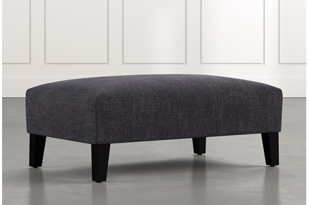 Madalyn Black Accent Ottoman