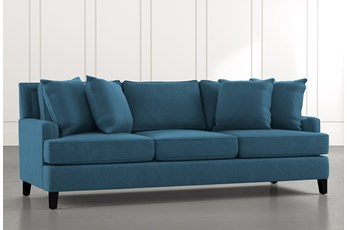 "Madalyn 91"" Blue Sofa"