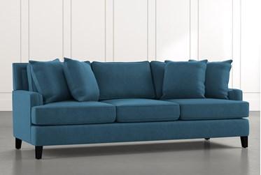"""Madalyn 91"""" Blue Sofa"""