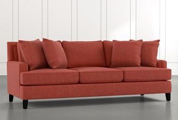 """Madalyn 91"""" Red Sofa"""