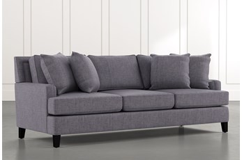 "Madalyn 91"" Dark Grey Sofa"