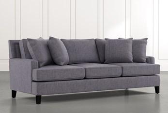 "Madalyn 91"" Dark Grey Sofa"