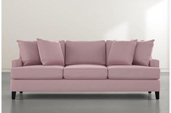 """Madalyn 91"""" Pink Velvet Sofa"""