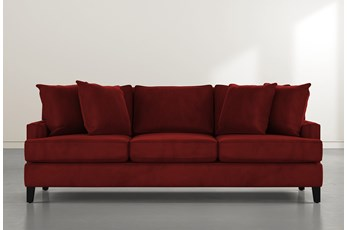 Madalyn Burgundy Velvet Sofa
