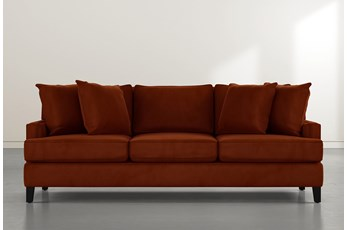 Madalyn Orange Velvet Sofa