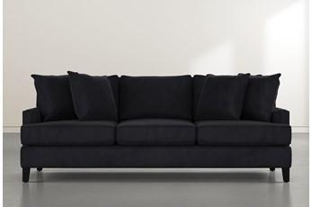 "Madalyn 91"" Dark Grey Velvet Sofa"