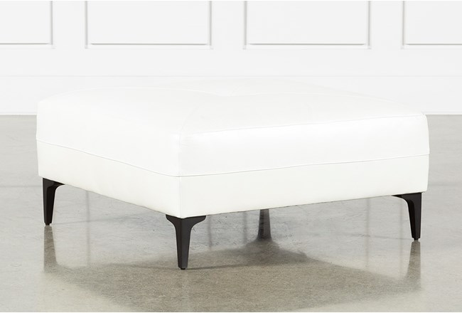 Anson II Leather Cocktail Ottoman - 360
