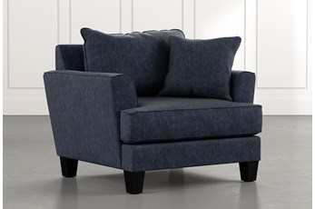 Elijah II Navy Blue Chair