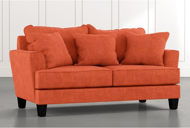 Elijah II Orange Loveseat - 360