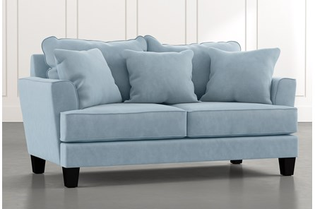 Elijah II Light Blue Loveseat