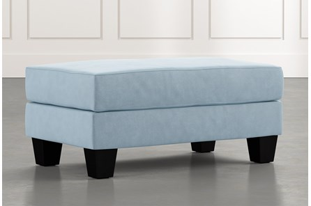 Elijah II Light Blue Ottoman