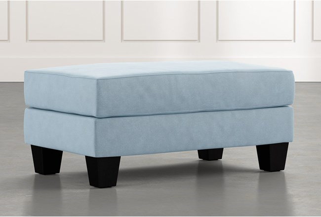 Elijah II Light Blue Ottoman - 360