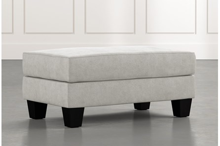Elijah II Light Grey Ottoman