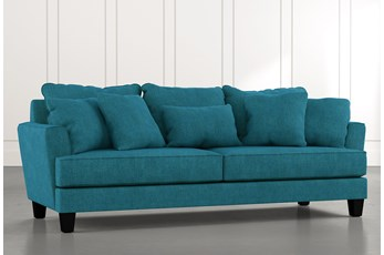 Elijah II Teal Sofa