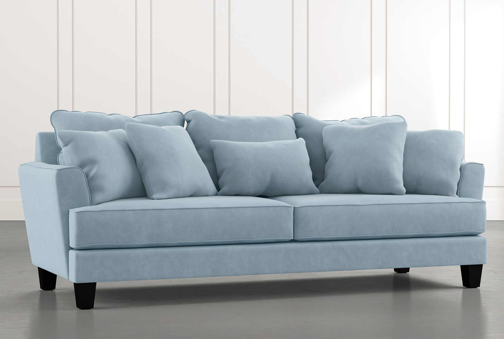 Elijah Ii Light Blue Sofa Living Spaces