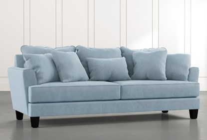 Elijah Ii 100 Light Blue Sofa Living Spaces
