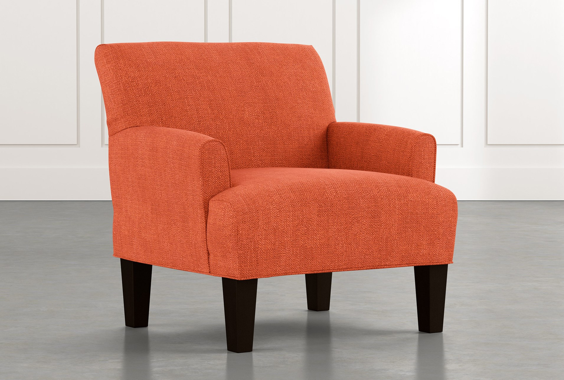 Elijah Ii Orange Accent Chair Living Spaces
