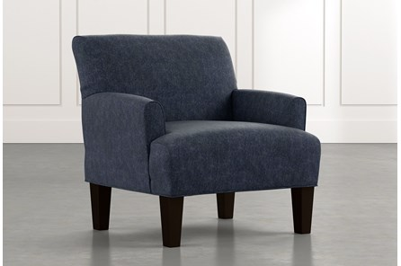 Elijah II Navy Blue Accent Chair