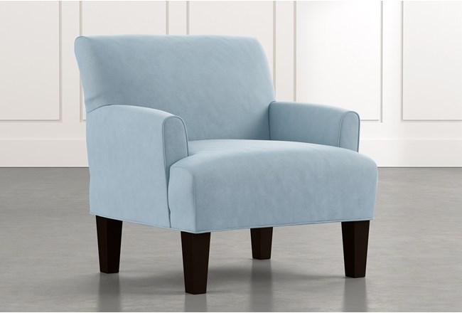 Elijah Ii Light Blue Accent Chair Living Spaces