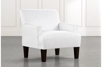 Elijah II White Accent Chair
