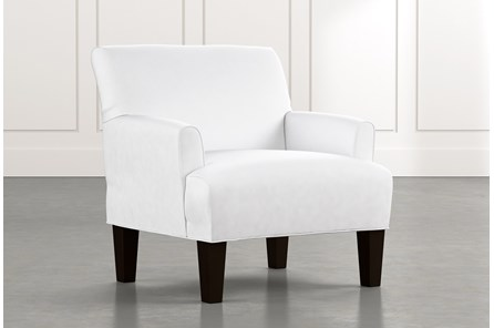 Elijah II White Accent Chair