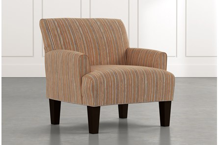 Elijah Orange Striped Accent Chair