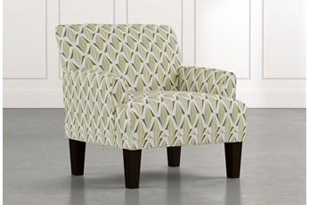 Elijah Green Geometric Accent Chair