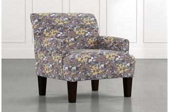 Elijah Yellow Geometric Accent Chair
