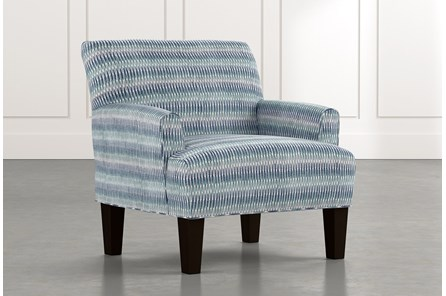 Elijah Blue Striped Accent Chair