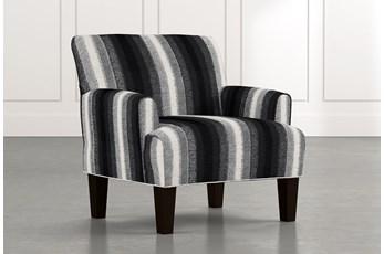 Elijah Black Striped Accent Chair
