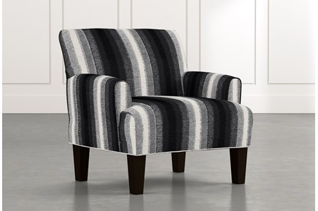 Elijah Black Striped Accent Chair