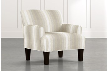 Elijah Natural Striped Accent Chair