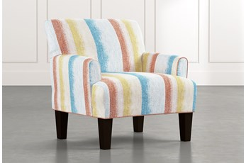 Elijah Striped Accent Chair