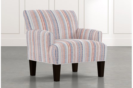 Elijah Red Striped Accent Chair