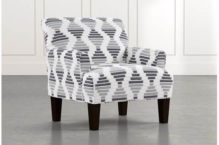 Elijah Grey Geometric Accent Chair