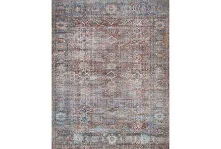 45X66 Rug-Magnolia Home Lucca Brick/Ocean By Joanna Gaines