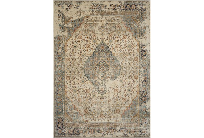 110X156 Rug-Magnolia Homes Evie Sand/Multi By Joanna Gaines  - 360