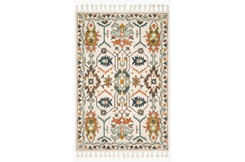 30X90 Rug-Magnolia Home Kasuri Ivory/Tuscan Clay By Joanna Gaines