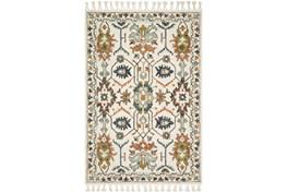 93X117 Rug-Magnolia Home Kasuri Ivory/Tuscan Clay By Joanna Gaines