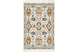 111X156 Rug-Magnolia Home Kasuri Ivory/Tuscan Clay By Joanna Gaines