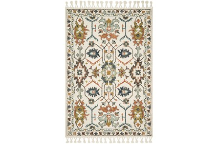 111X156 Rug-Magnolia Home Kasuri Ivory/Tuscan Clay By Joanna Gaines