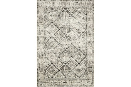 27X45 Rug-Magnolia Home Lotus Ivory/Black By Joanna Gaines